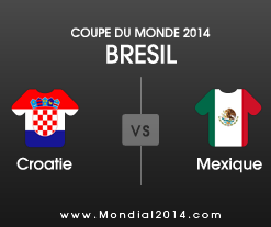 Mondial 2014 - Coupe du Monde 2014 Croatie - Mexique
